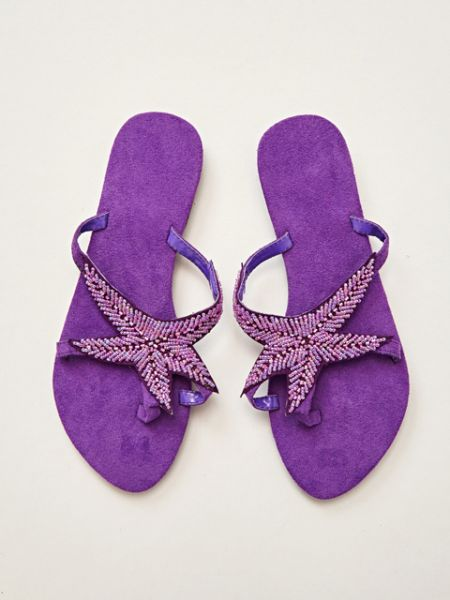 Starfish Beaded Flipflops-Shoes-Ametsuchi