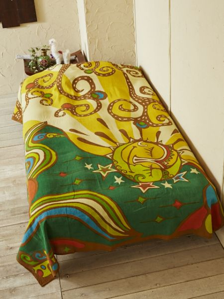 Psychedelic Sun Moon Wall Hanging Multi Cloth-Bed Linens-Ametsuchi