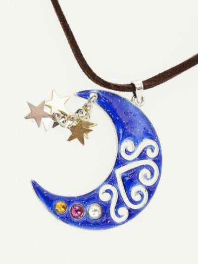 Crescent Moon & Star Colliers-Colliers-Ametsuchi