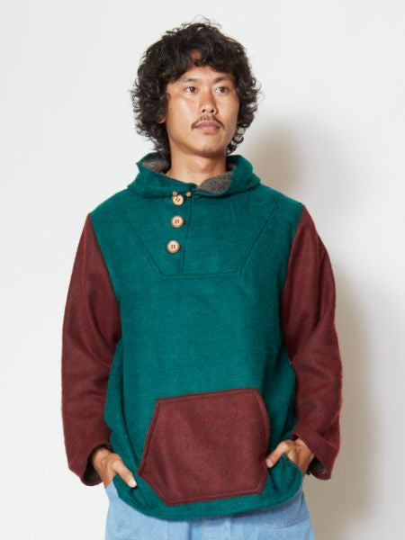 Bi Color Men's Hoodie-Tops-Ametsuchi