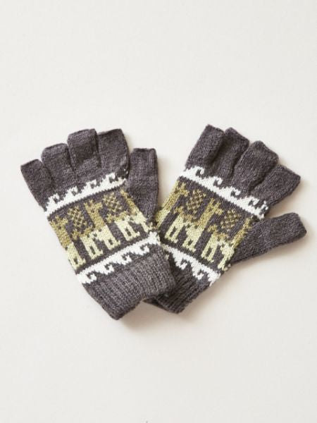 Alpaca Knitted Gloves -Gloves-Ametsuchi