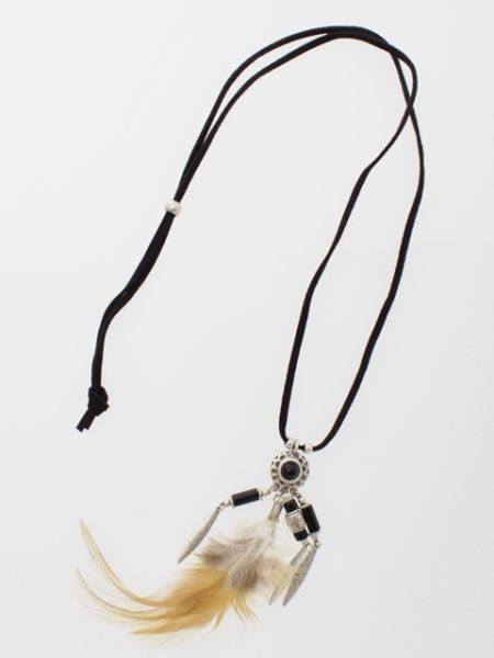 Feather Charm Necklace-Ametsuchi
