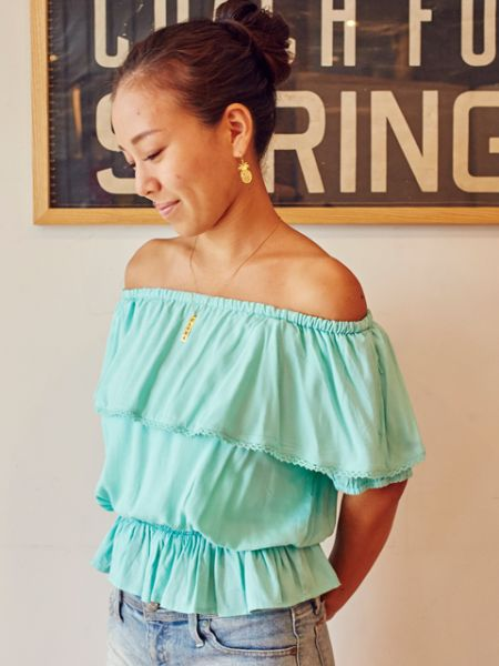 Lace Off Shoulder Tops -Shirts & Blusen-Ametsuchi