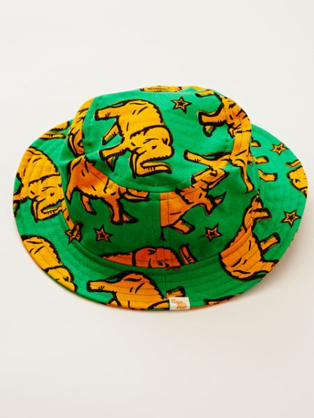 African Fabric Inspired Animal Print Kanak-kanak Hat-Accessories-Ametsuchi