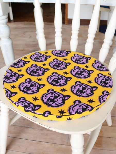 African Fabric Inspired Animal Round Cushion