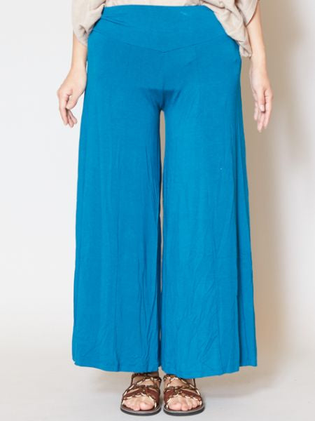 Rayon Tuckless Cropped Wide Leg Pants-Pants & Shorts-Ametsuchi
