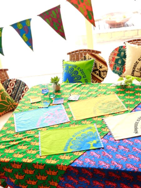 African Fabric Inspired Animal Tablecloth-Ametsuchi