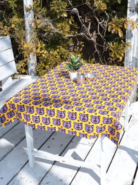 African Fabric Inspired Animal Tablecloth