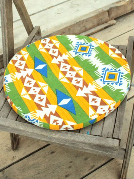 Navajo Pattern Round Cushion-Cushion Covers-Ametsuchi