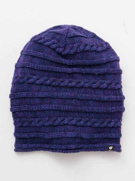 Knitted Acrylic 2way Unisex Beanie-Caps & Hats-Ametsuchi
