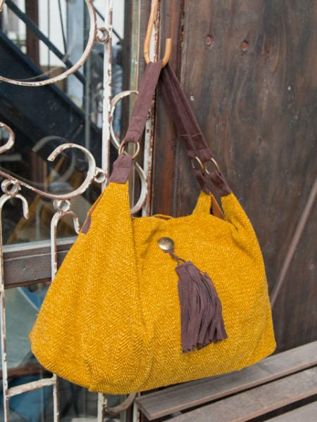 Plain Tote Bag with Fringe and Concho