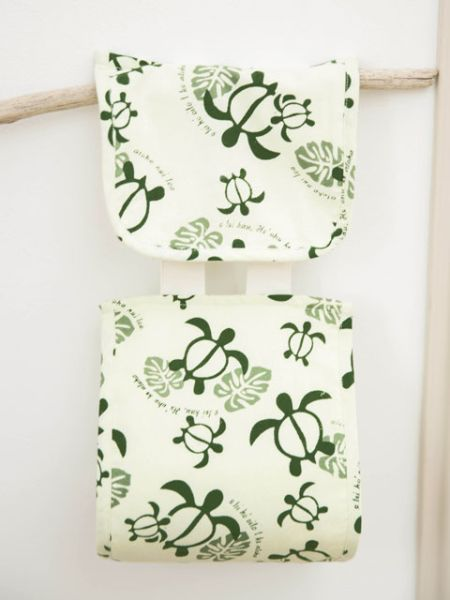Monstera & Honu Kertas Pemegang Tandas Cover-Bathroom-Ametsuchi