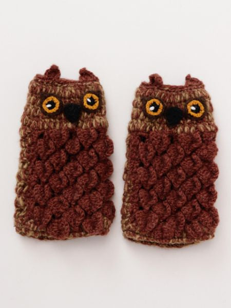 Owl Half Gloves