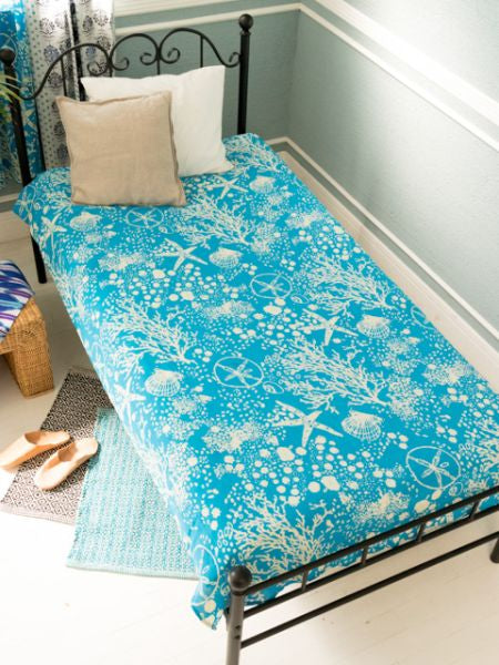 Blue Bed Cover-Bed Linens-Ametsuchi