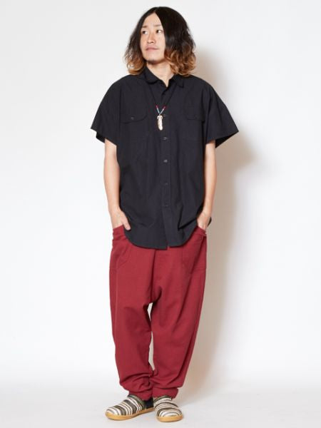Single Color Basic Bohemian Harem Pants-Pants & Shorts-Ametsuchi