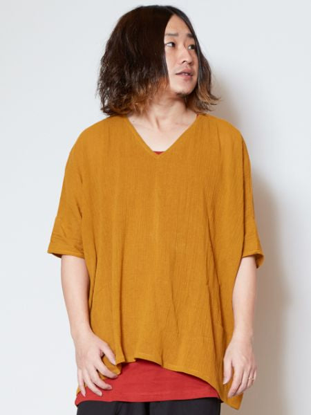 Comfy Texture Layered Top-Tops-Ametsuchi