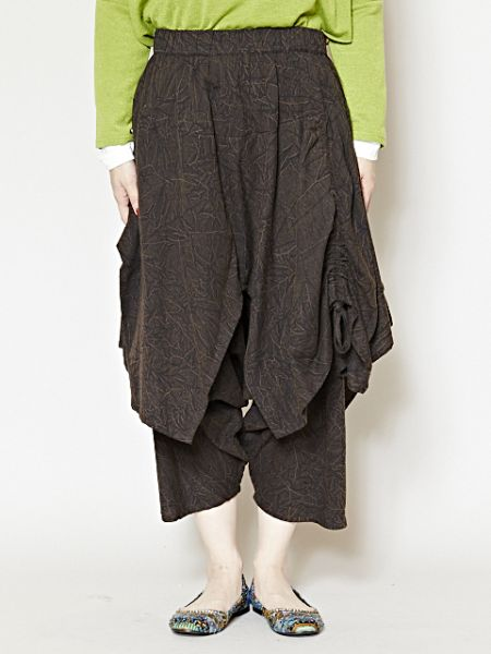 Acid Washed Harem Pants-Pants & Shorts-Ametsuchi