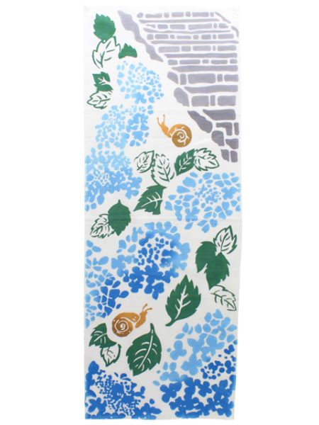 Blue Hydrangea TENUGUI Towel-Home Accessories-Ametsuchi