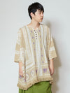 Indian Cotton Ethnic Pattern Oversized Top-Tops-Ametsuchi