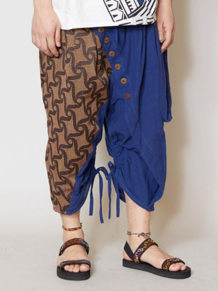컬러 블록 Men's Harem Pants-Pants & Shorts-Ametsuchi