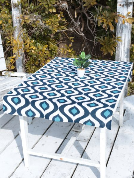 Indigo Dye Tablecloth