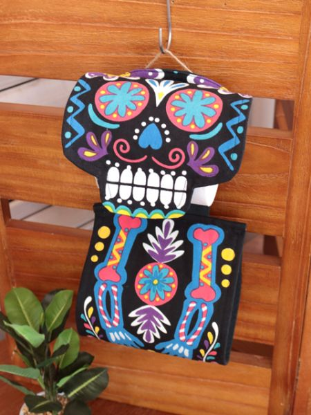 Calavera Toilet Paper Holder -Bathroom-Ametsuchi