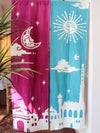 Bi-color Namaste NOREN Door Curtain-Home Decor-Ametsuchi