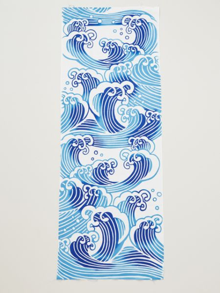 伊勢型紙 Wave TENUGUI Towel