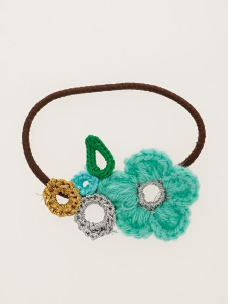 Crochet Flower Anti-static Hair Band