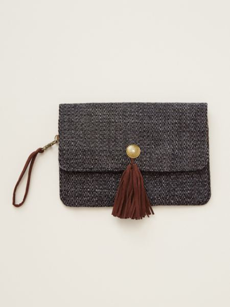 Fringe Concho Clutch Bag