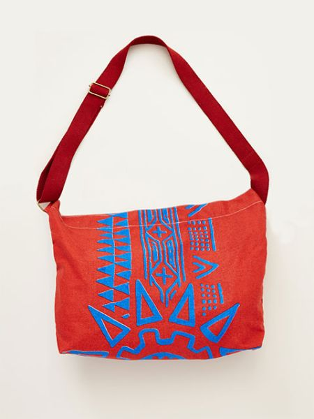 Geometric Pattern Shoulder Bag-Ametsuchi