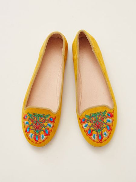 Bohemian Embroidery Pumps-Ametsuchi