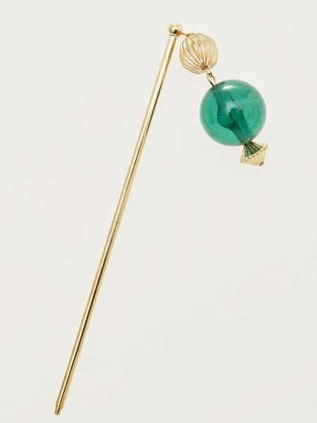 KANZASHI Hair Stick with Clear Bead Charm-Ametsuchi