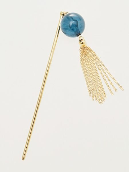 Beaded KANZASHI Hair Stick with Tassel-Hair Accessories-Ametsuchi