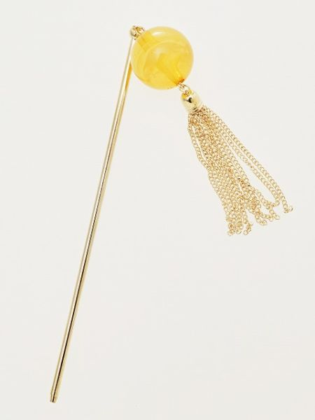 Beaded KANZASHI Hair Stick with Tassel-Ametsuchi