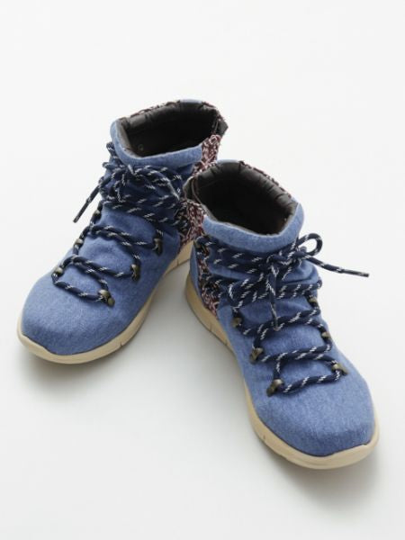 Ethnic patterned mountain boots -Shoes-Ametsuchi