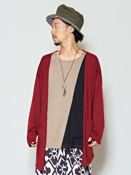 Layered Top and Cardigan Set of 2-Cardigans & Outerwear-Ametsuchi
