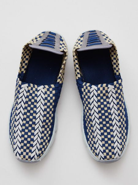 Yasuri Pattern Men's Shoes -Shoes-Ametsuchi