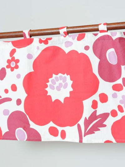 Finnish Flower Bouquet NOREN Cafe Curtain-Ametsuchi