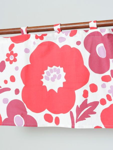 Finnish Flower Bouquet NOREN Cafe Curtain