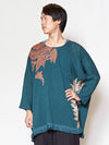 Tribal Flower Orversized Top-Tops-Ametsuchi