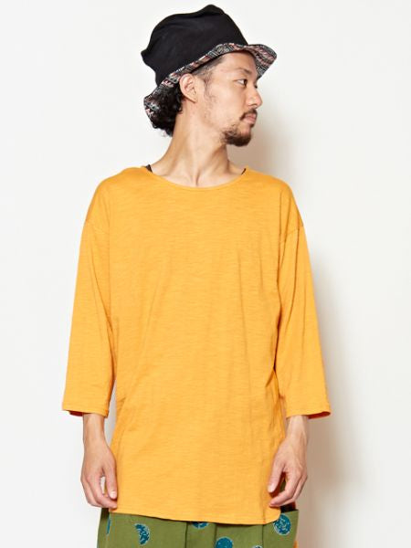 Plain Slub Cotton Tee-Ametsuchi
