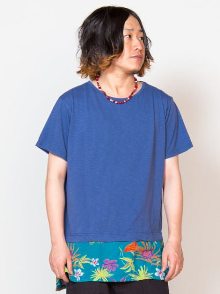 Tropical Printed Layered Top-Ametsuchi