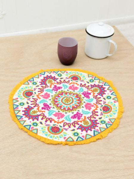Mexican Inspired Colorful Round Place Mat