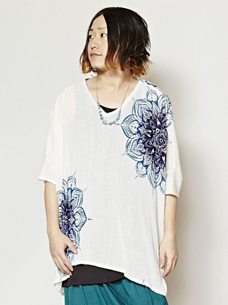 Mandala Pattern Top & Tank Set of 2-Tops-Ametsuchi