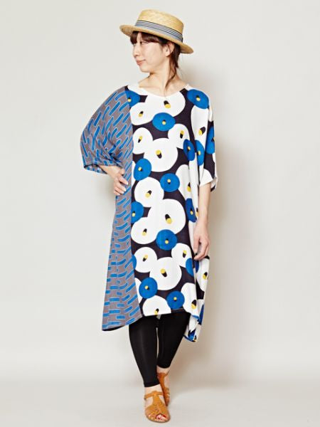 Floral Pattern Kaftan Dress