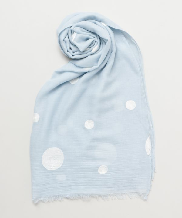 Dot Embroidery Scarf