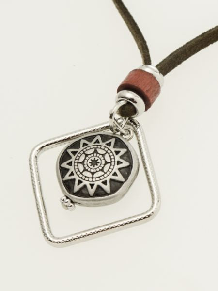 Tribal Sun MEN'S Necklace -Necklaces-Ametsuchi