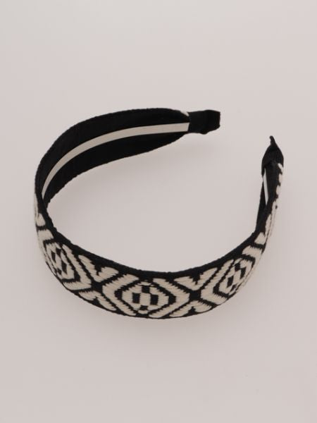 Geometric Pattern Hair Band-Ametsuchi