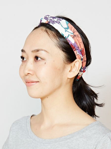 Botanical Patttern Hair Band-Ametsuchi